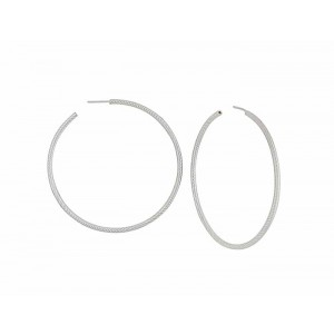 Extra Large Silver Hoop Earrings 60mm