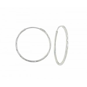 Diamond Cut Sleeper Hoop - 25mm