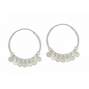 Spirited Silver Hoop Beaded Earrings