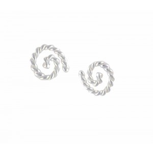 Spiral Silver Stud Earrings