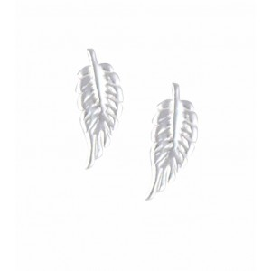 Stud Silver Feather Earrings