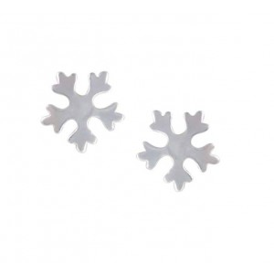 Snowflake Silver Stud Earrings