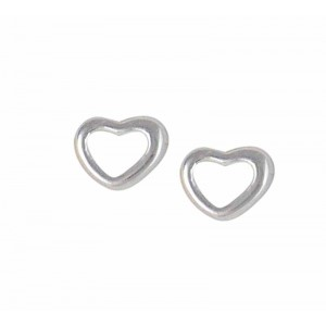 Open Heart Small Stud Earrings