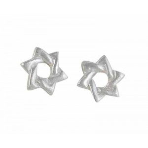 Star of David Sterling Silver Earrings
