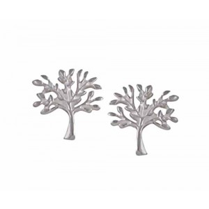 Tree of Life Silver Stud Earrings