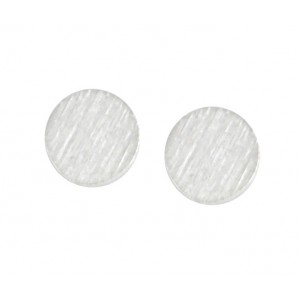 Small Disc Stud Earrings