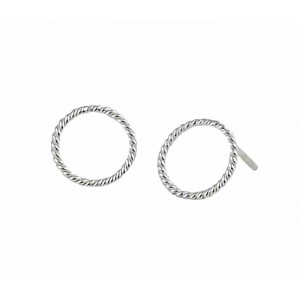Open Circle Small Stud Earrings