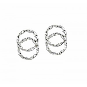 Twisted Circle Small Stud Earrings