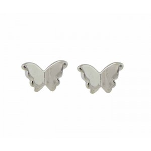 Small Silver Butterfly Earrings