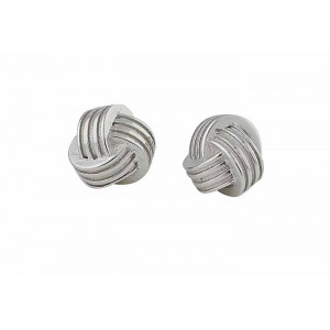 Silver Triple Knot Earrings