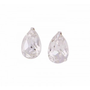 Teardrop Swarovski Crystal Stud Earrings