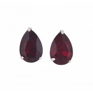 Teardrop Siam Swarovski Crystal Stud Earrings