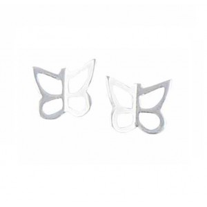 Silver Butterfly Small Stud Earrings