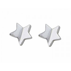 Small Star Silver Stud Earrings