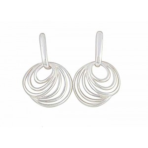 Concentric Design Circle Stud Earrings