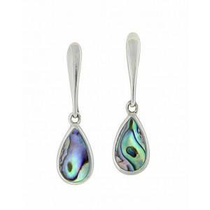 Abalone Teardrop Silver Earrings