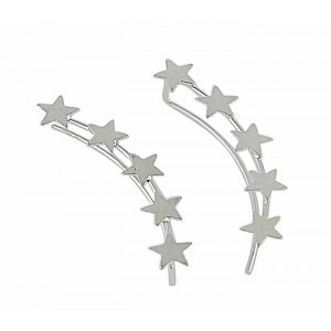 Silver Star Ear Climber | The Opal