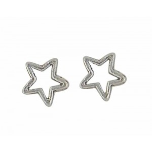 Small Open Star Silver Stud | The Opal