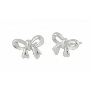 Silver Bow Small Stud Earrings