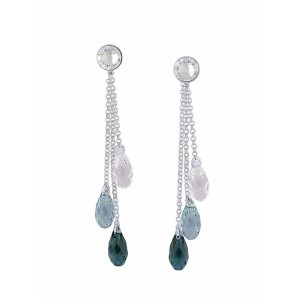 Aqua Blue Swarovski Crystal Earrings | The Opal Jewellery