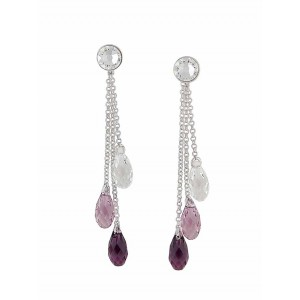 Amethyst Swarovski Crystal Earrings | The Opal Jewellery