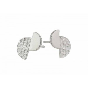 Textured and Plain Geometry Stud Earrings | The Opal Jewellery