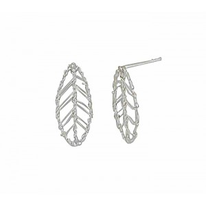 Silver Leaf Small Stud Earrings