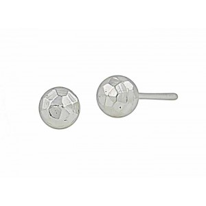 Faceted Small Silver Ball Stud Earrings- 5mm