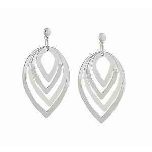 Graduating Teardrop Silver Earrings