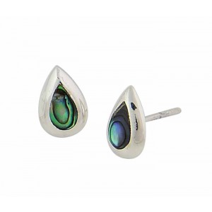 Teardrop Abalone Stud Earrings