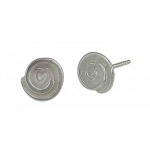 Spiral Design Silver Stud Earrings