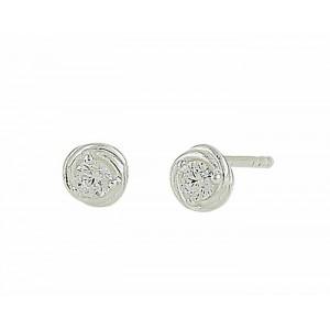 Entwined Silver Stud Earrings