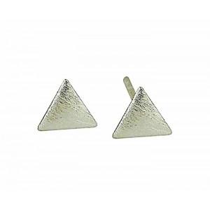 Triangular Textured Stud Earrings