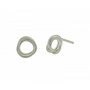 Open Swirl Sterling Silver Earring