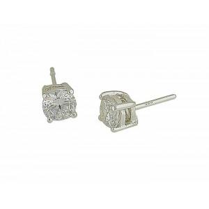5mm Cubic Zirconia Silver Stud Earrings