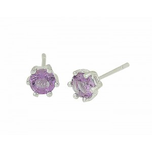 Faceted Amethyst Stud Earrings