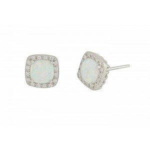 White Opal Regality Stud Earrings