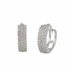 Cubic Zirconia Small Hoop Earrings -14mm