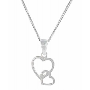 Interlinked Double Heart Pendant