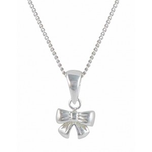 Knotted Bow Pendant Necklace