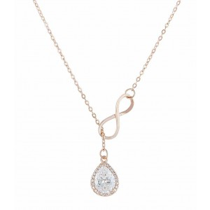 Teardrop Rose Gold Infinity Necklace