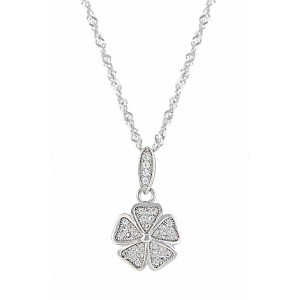 Five Petal Flower Pendant Necklace