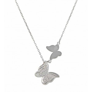 Pendant Sterling Silver Butterfly Necklace