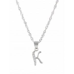Initial 'K' Pendant Necklace