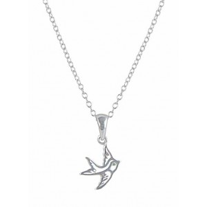 Flying Bird Silver Pendant Necklace