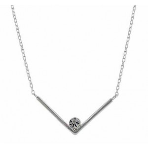 Open 'V' Sterling Silver Necklace