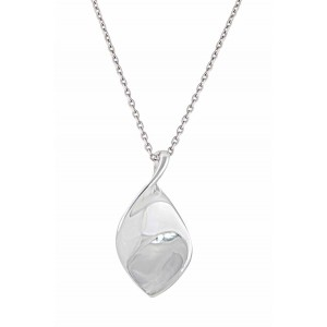Twisted Leaf Silver Pendant Necklace