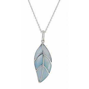 Mother of Pearl Silver Leaf Necklace