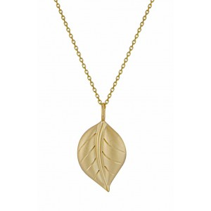 Gold Plated Leaf Silver Pendant