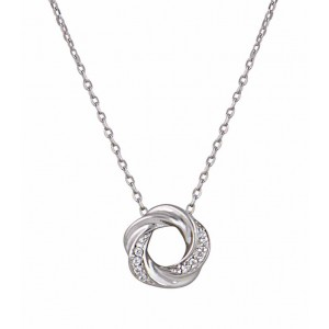 Twisted Circle Silver Necklace